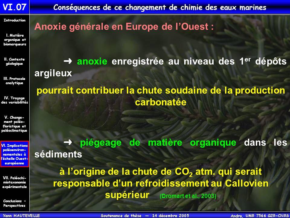 VI.07 Conséquences de ce changement de chimie des eaux marines Conclusions – Perspectives II. Contexte géologique Introduction III. Protocole analytiq