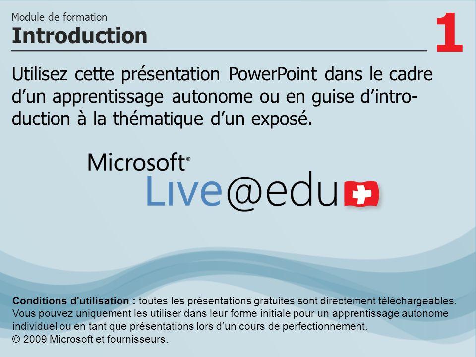 2 Le profil Live est votre porte d accès à Windows Live.