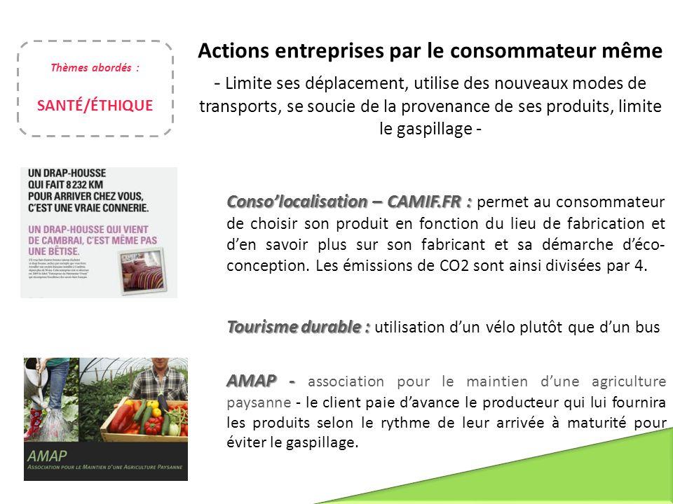 Conso'localisation – CAMIF.FR : Conso'localisation – CAMIF.FR : permet au consommateur de choisir son produit en fonction du lieu de fabrication et d'