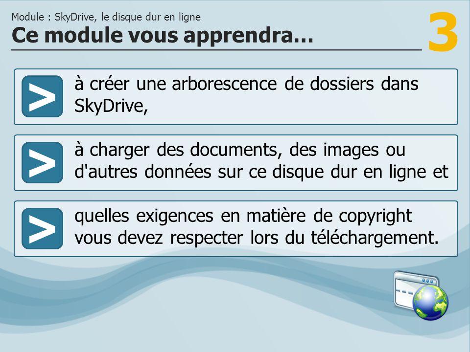 3 >> à charger des documents, des images ou d'autres données sur ce disque dur en ligne et quelles exigences en matière de copyright vous devez respec