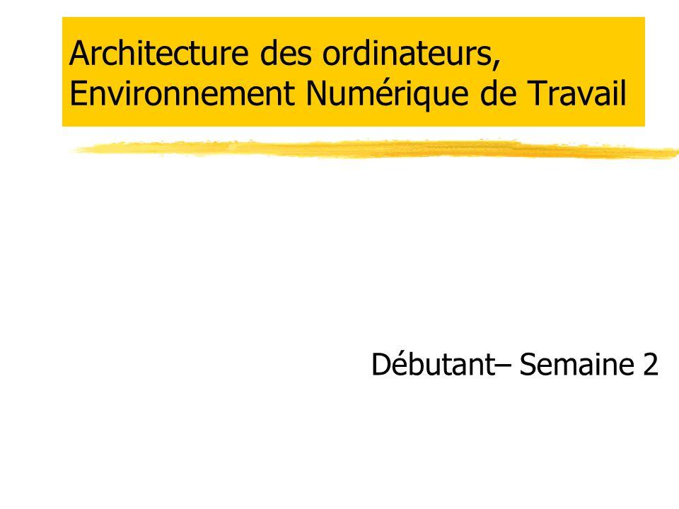 Partie 1 : Architecture  Vue d'ensemble  Les périphériques  Le processeur et la mémoire  Les mémoires  Chargement en mémoire  Conséquences pratiques  Des chiffres