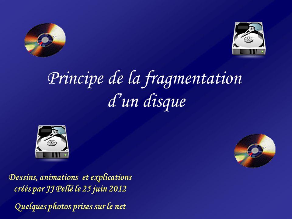 Principe de la fragmentation d'un disque Dessins, animations et explications créés par JJ Pellé le 25 juin 2012 Quelques photos prises sur le net