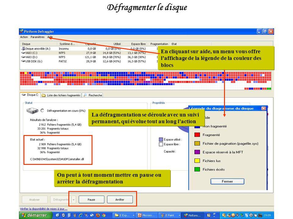 Analyser vous donne le taux de fragmentation de votre disque.
