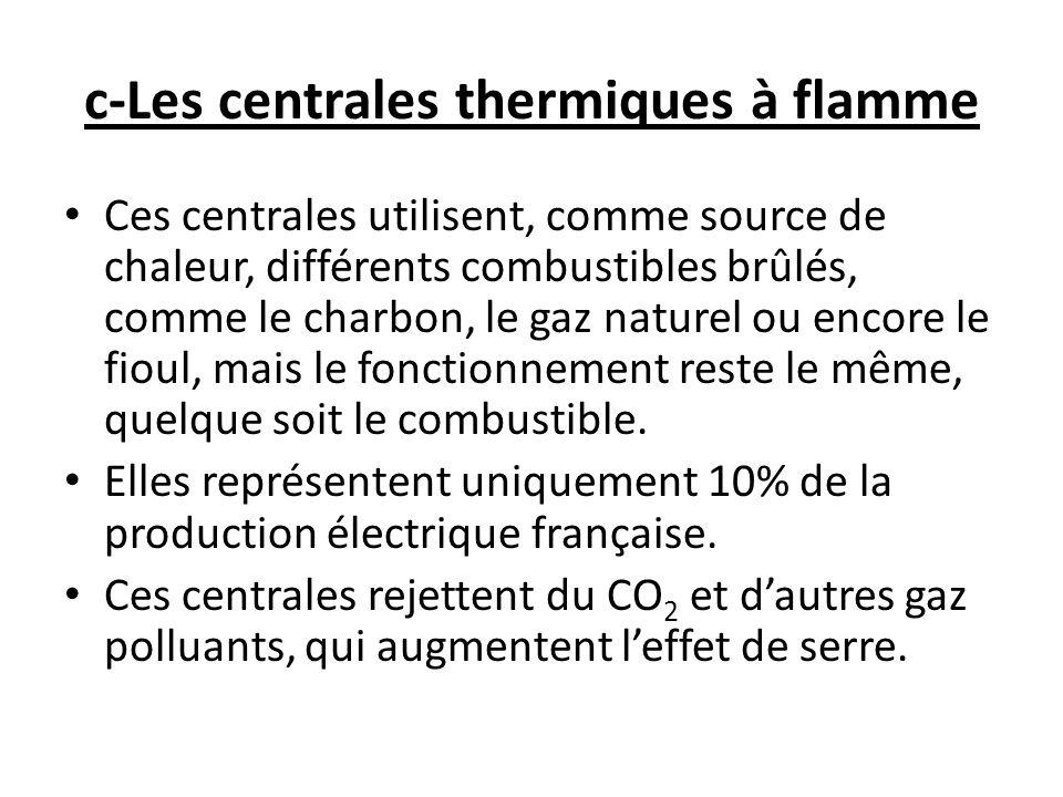 Fonctionnement: Le combustible brûle dans une chaudière et libère de la chaleur.