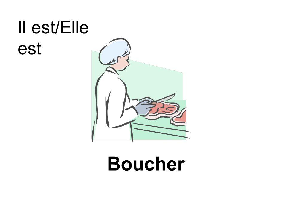 Boucher Il est/Elle est