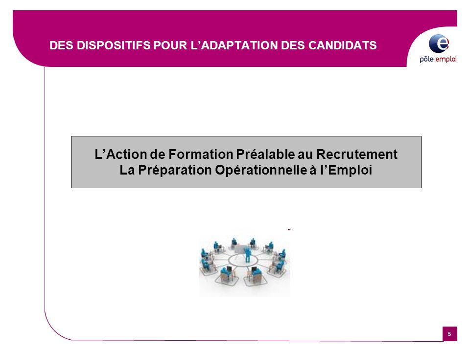 66 Avec des aides à la formation avant l'embauche : la Préparation Opérationnelle à l'Emploi (POE) l'Action de Formation Préalable au Recrutement (AFPR) Quel objectif .