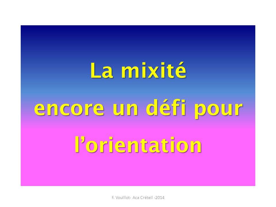 La mixité encore un défi pour l'orientation F. Vouillot- Aca Créteil -2014