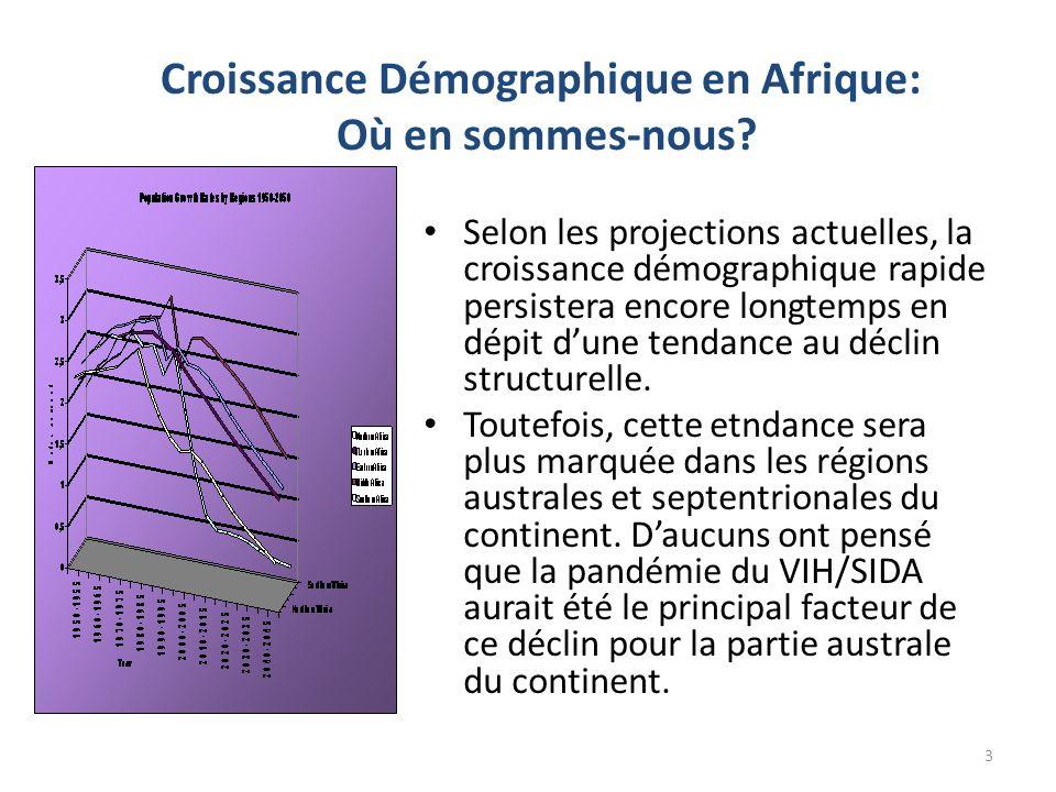 Croissance Démographique en Afrique: Où en sommes-nous? Selon les projections actuelles, la croissance démographique rapide persistera encore longtemp