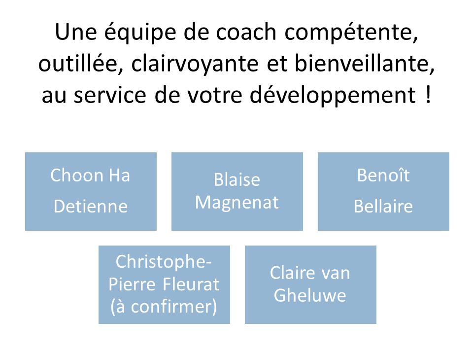 Une équipe de coach compétente, outillée, clairvoyante et bienveillante, au service de votre développement ! Choon Ha Detienne Blaise Magnenat Benoît