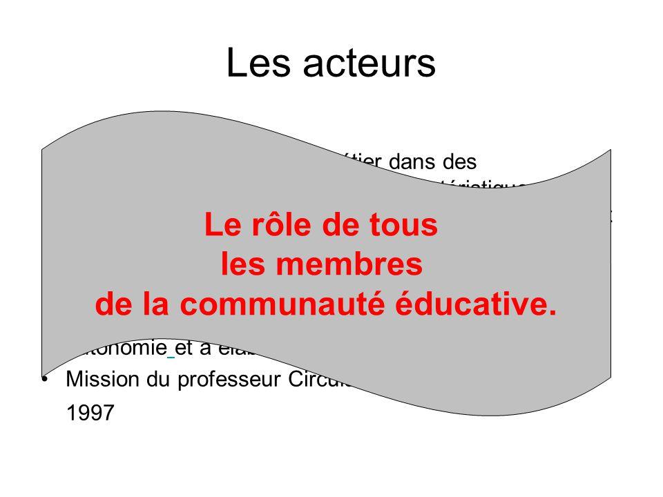 Le professeur exerce son métier dans des établissements secondaires aux caractéristiques variables selon le public accueilli …. Sa mission est tout à