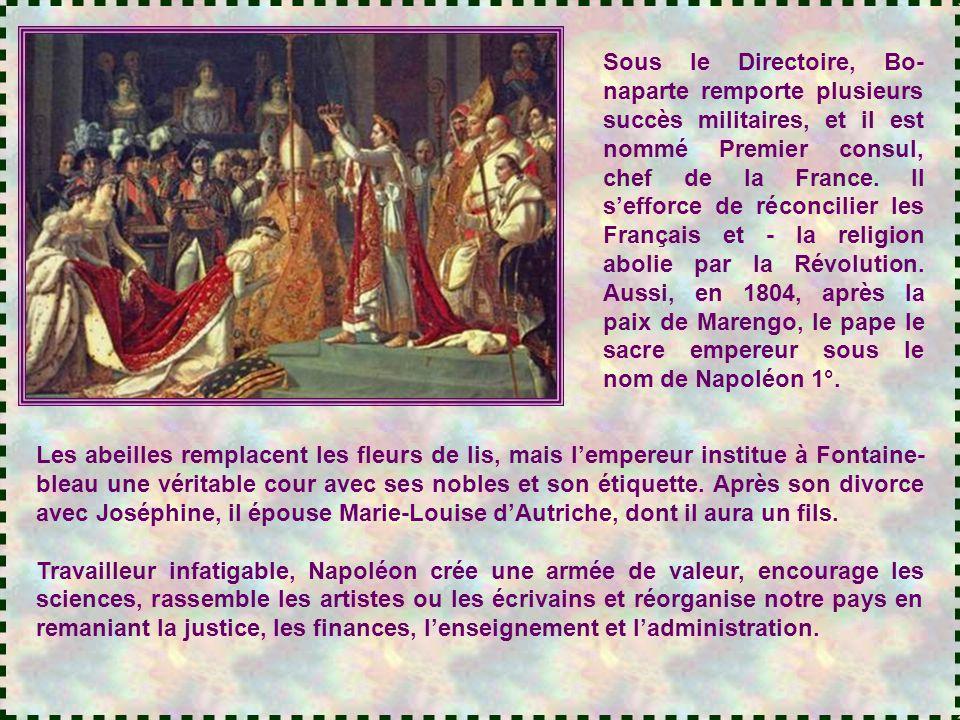 Dans un des salons du palais des Tuileries, Hortense et Joseph regar- dent le fils de Napoléon en train de gazouiller dans son berceau. - Dis, Hortens