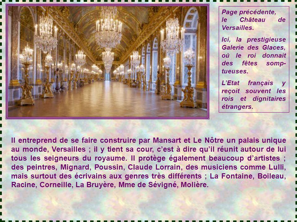 Page précédente, le Château de Versailles.