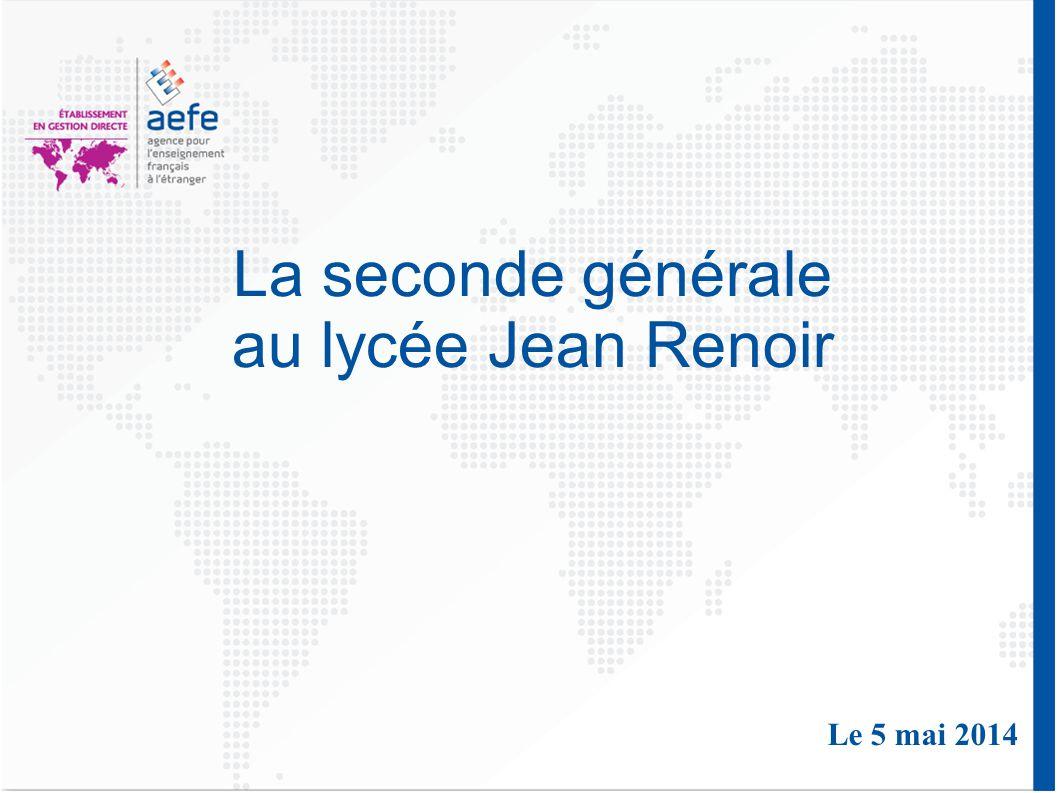 La seconde générale au lycée Jean Renoir Le 5 mai 2014