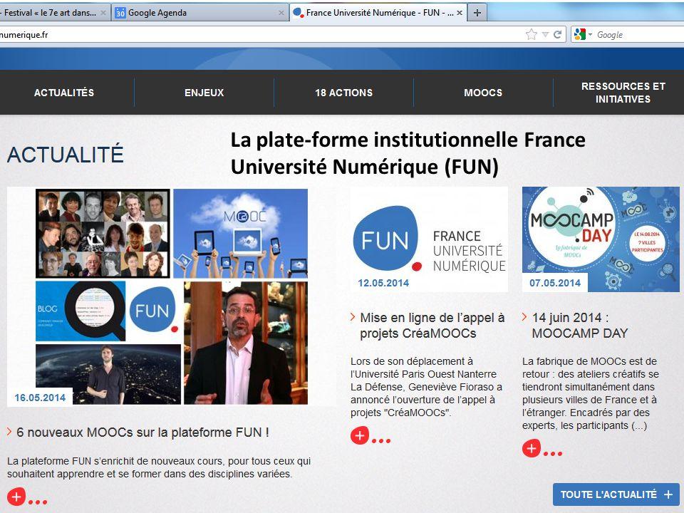 Céline Lèbre (BDIC) - Bibliothèque de l EPFL, 3 juin 2014 La plate-forme institutionnelle France Université Numérique (FUN)