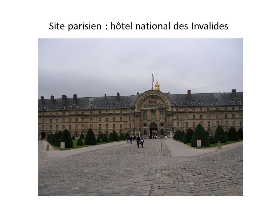 Site parisien : hôtel national des Invalides
