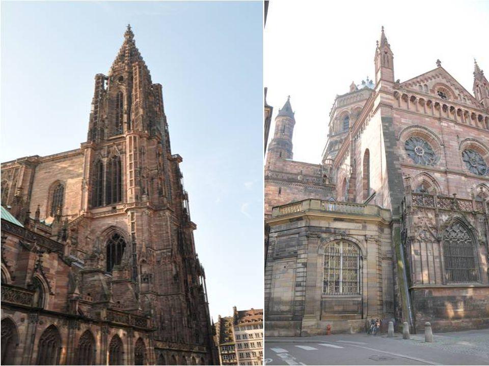 Qualifié par Victor Hugo de : Prodige du Gigantesque et du Délicat: Elle dresse sa façade rose et son imposante Flèche sur une large place pavée au cœ