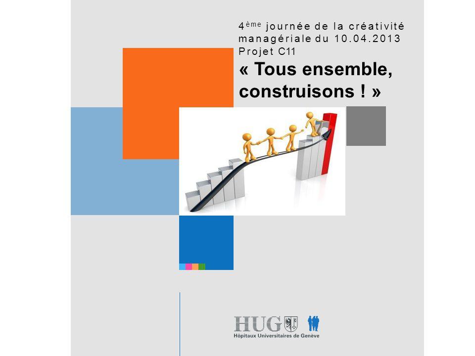4 ème journée de la créativité managériale du 10.04.2013 Projet C11 « Tous ensemble, construisons .