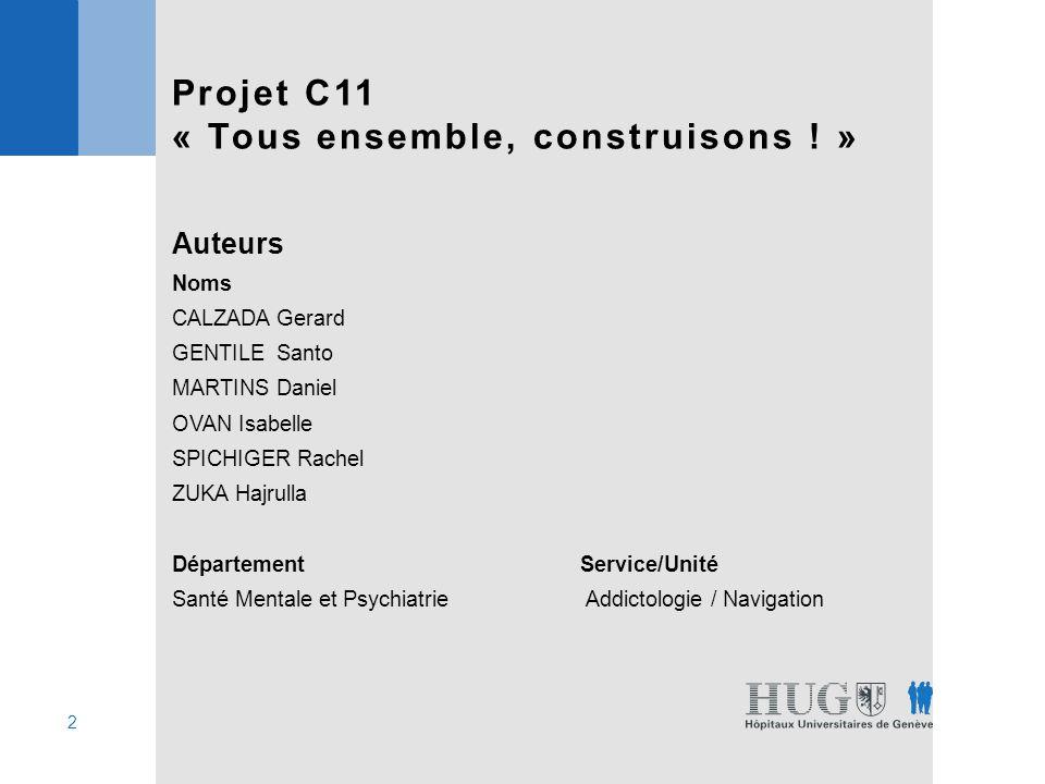 3 Projet C11 « Tous ensemble, construisons .