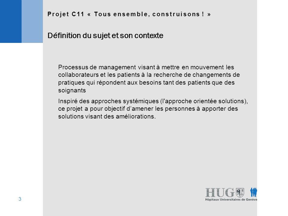 14 Projet C11 « Tous ensemble, construisons .