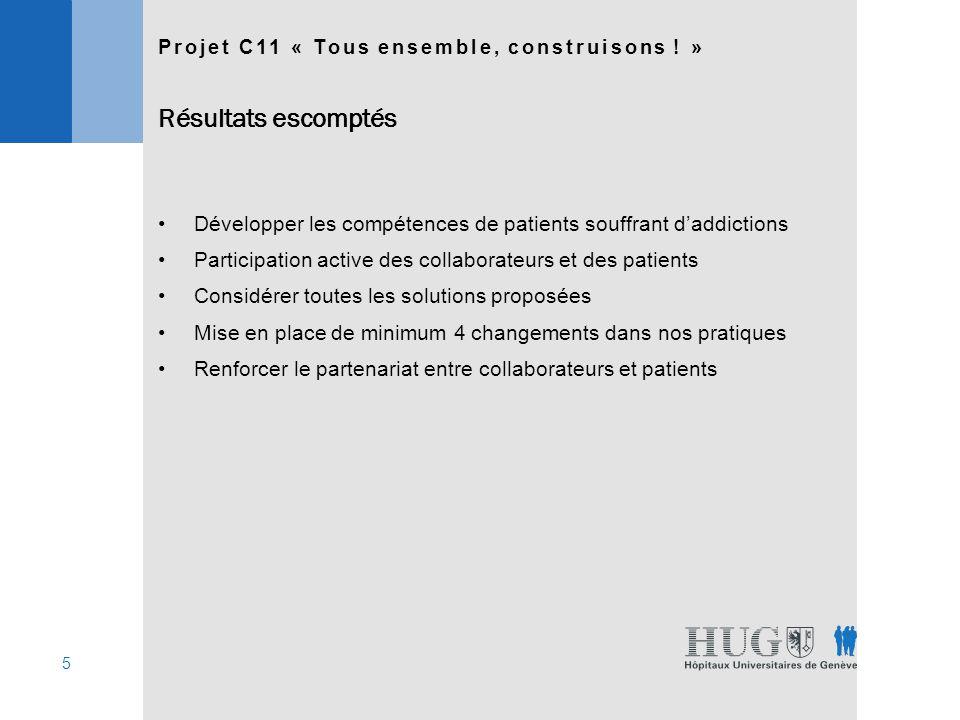 16 Nous avons obtenu 135 réponses (taux de participation: 36%): 8 SOLUTIONS 48 27 Projet C11 « Tous ensemble, construisons .