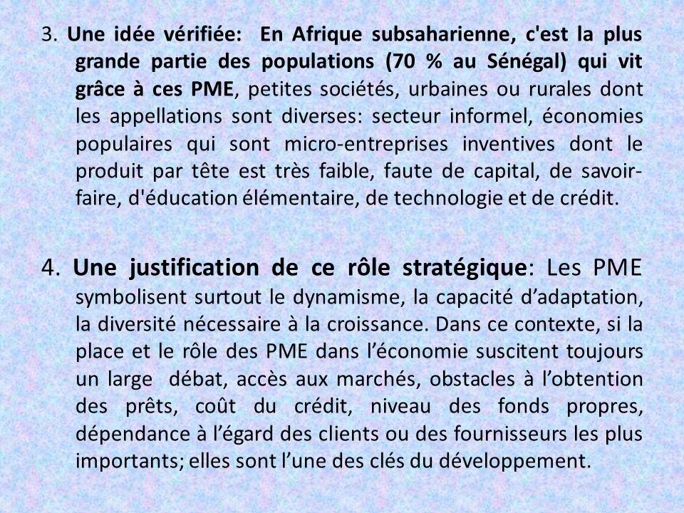 Plan de l'exposé.I/ Les apports des PME/PMI dans le développement.