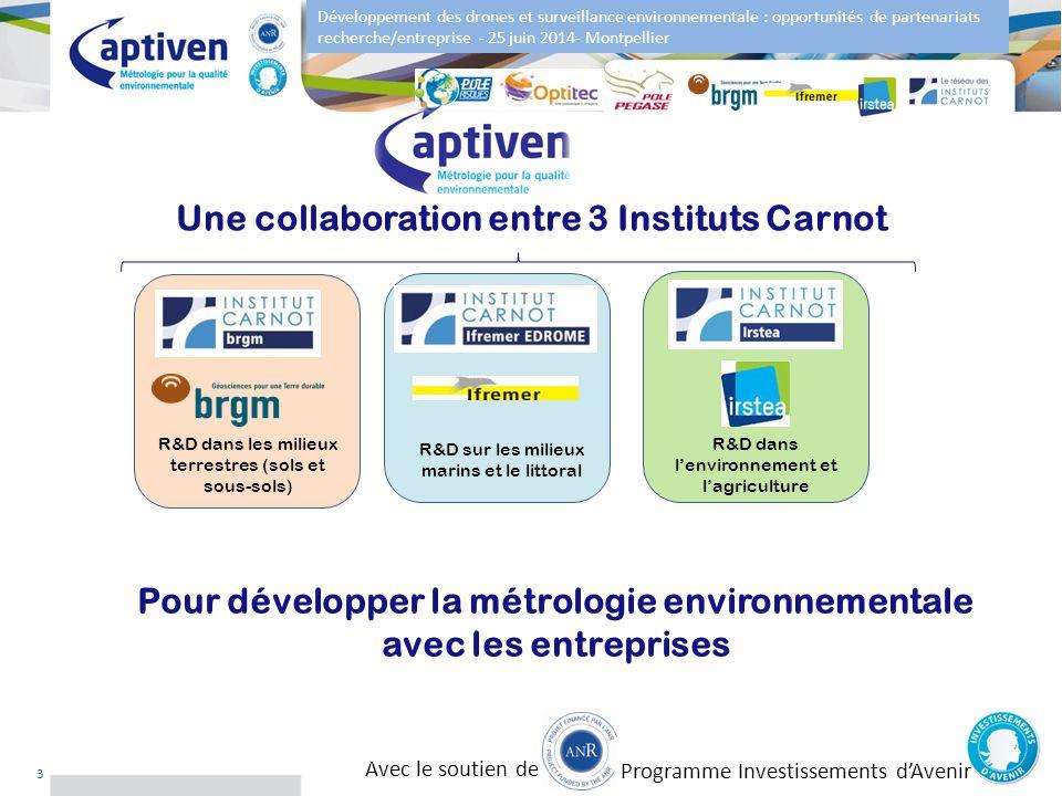 Développement des drones et surveillance environnementale : opportunités de partenariats recherche/entreprise - 25 juin 2014- Montpellier 3 R&D dans l