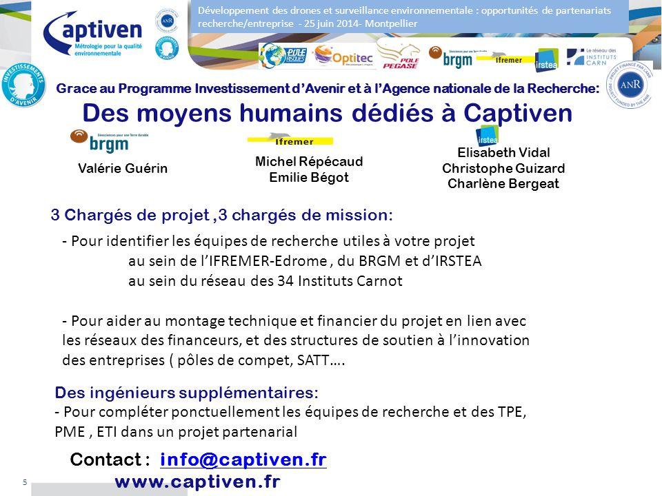 Développement des drones et surveillance environnementale : opportunités de partenariats recherche/entreprise - 25 juin 2014- Montpellier 5 Grace au P
