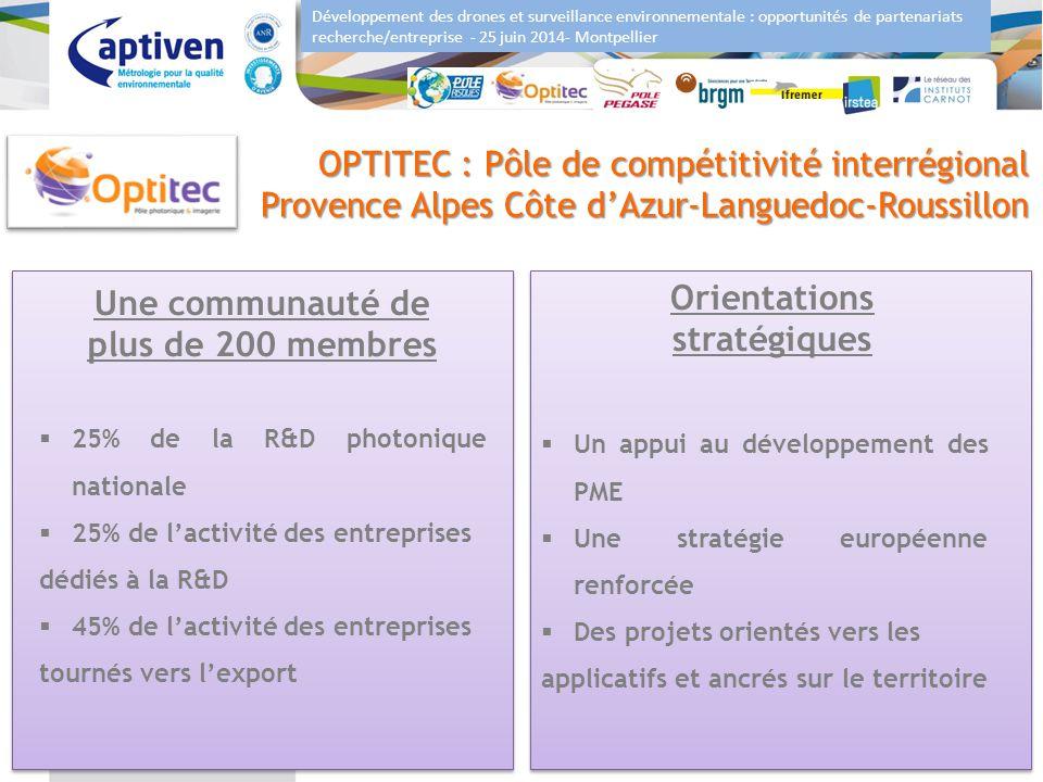 Développement des drones et surveillance environnementale : opportunités de partenariats recherche/entreprise - 25 juin 2014- Montpellier 6 OPTITEC :