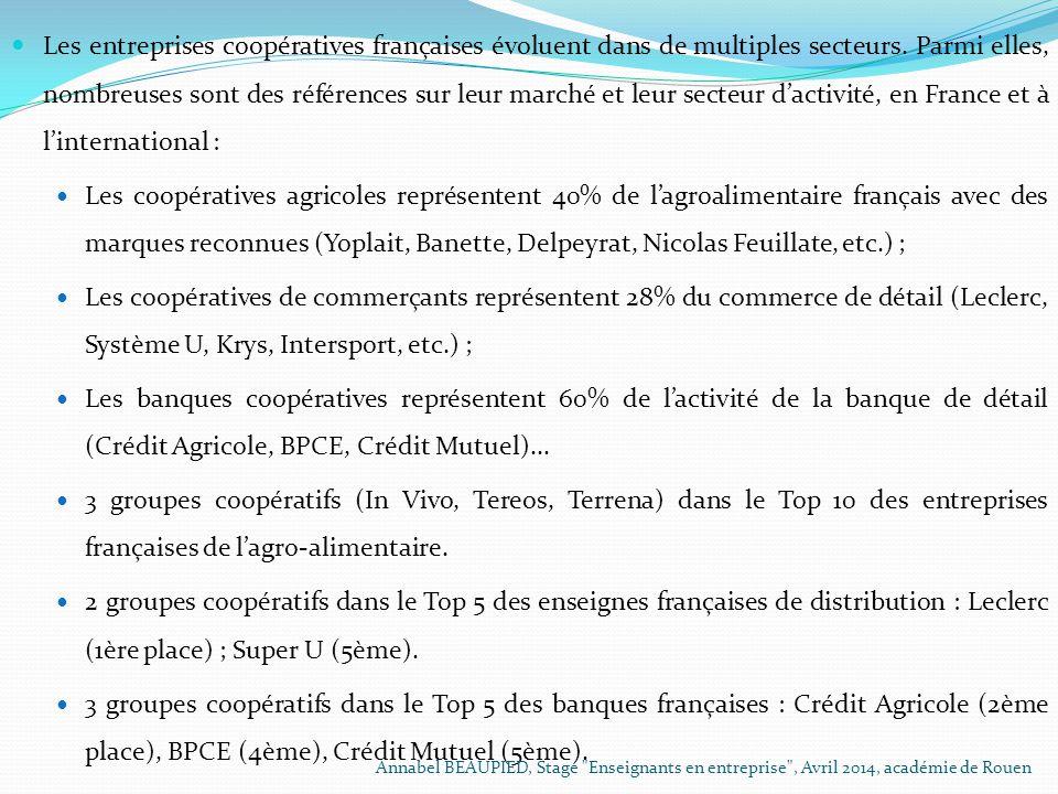 Les entreprises coopératives françaises évoluent dans de multiples secteurs. Parmi elles, nombreuses sont des références sur leur marché et leur secte