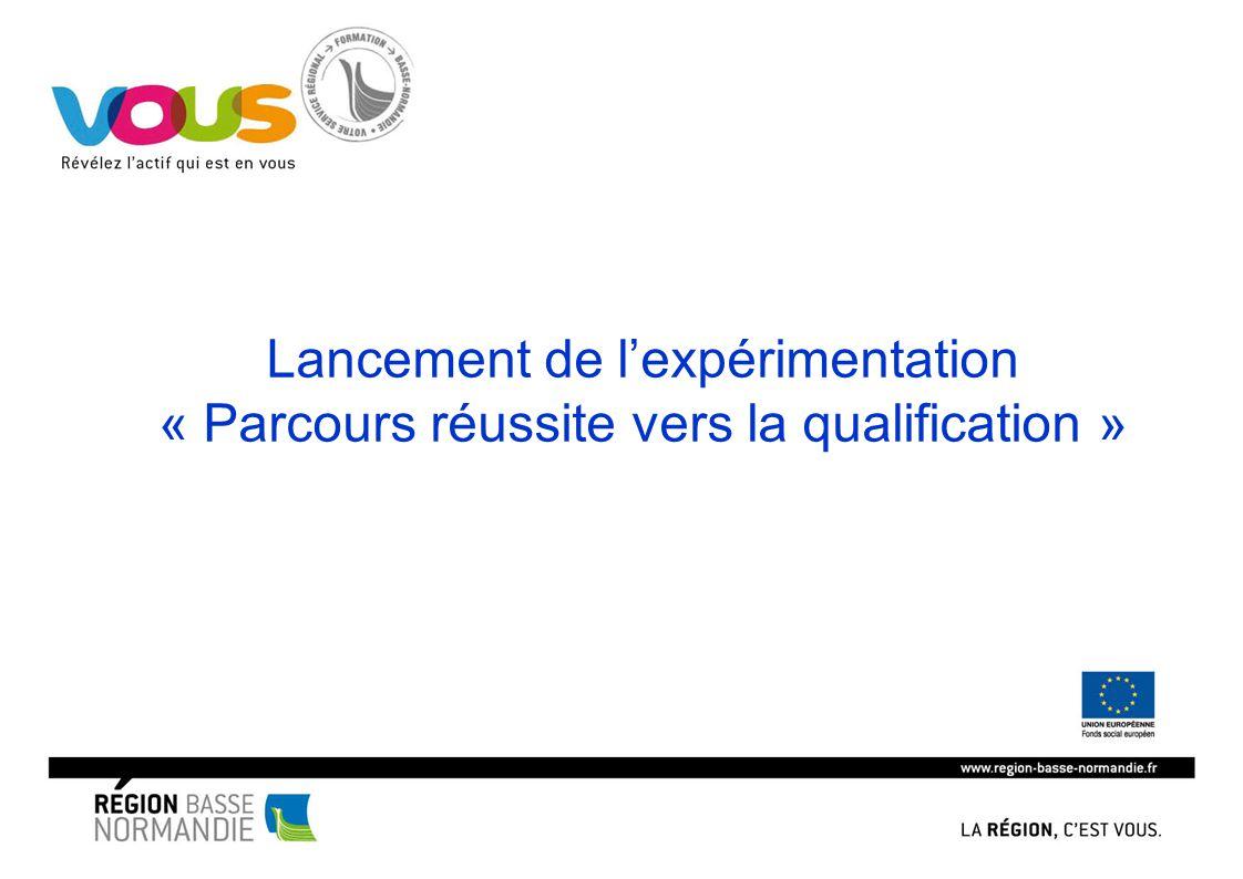 Lancement de l'expérimentation « Parcours réussite vers la qualification »