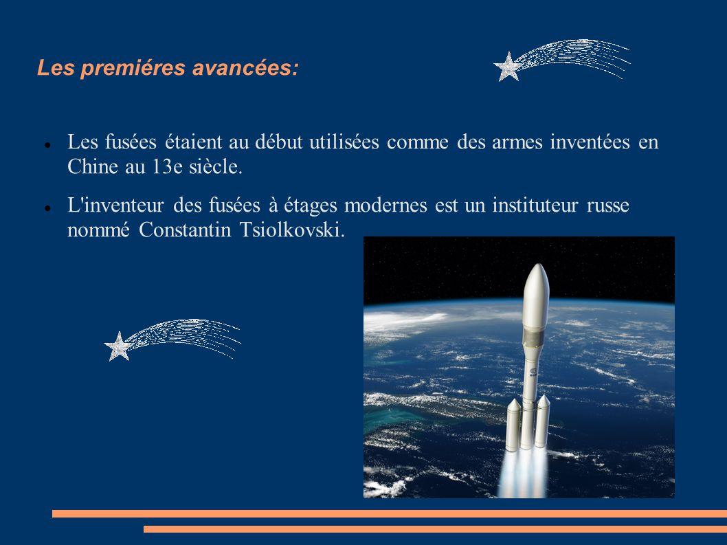 Les premiéres avancées: Les fusées étaient au début utilisées comme des armes inventées en Chine au 13e siècle.