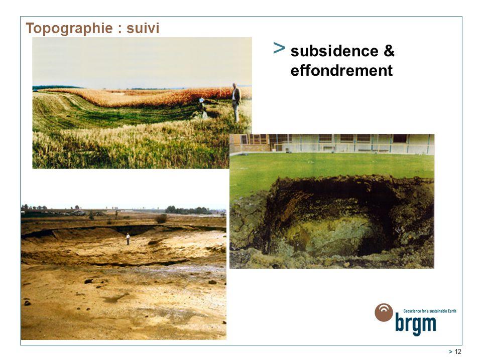 > 12 Topographie : suivi > subsidence & effondrement