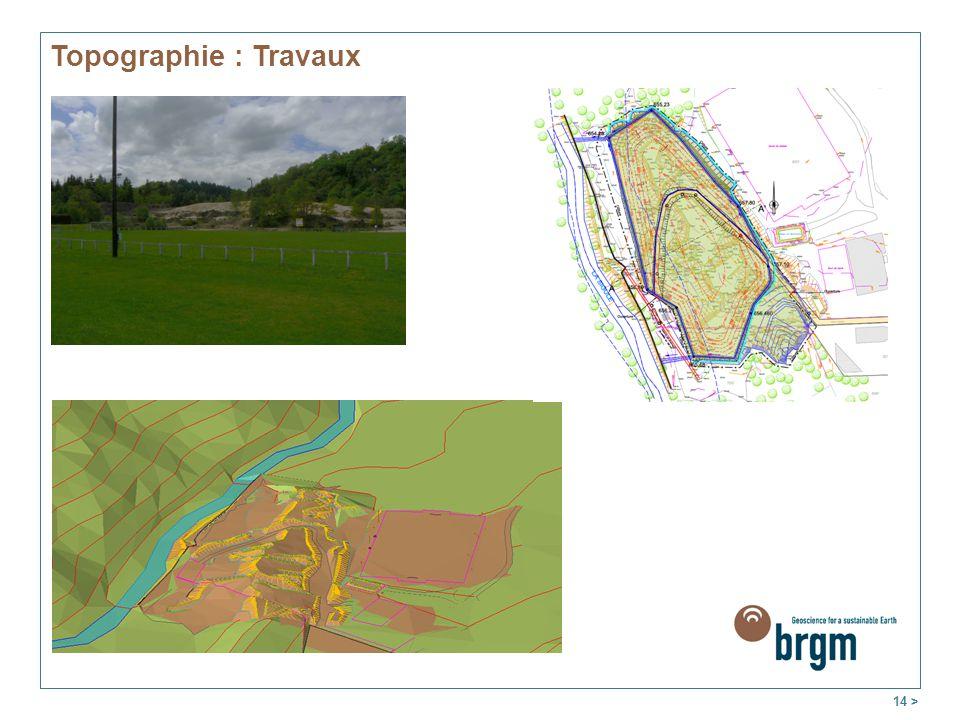 14 > Topographie : Travaux