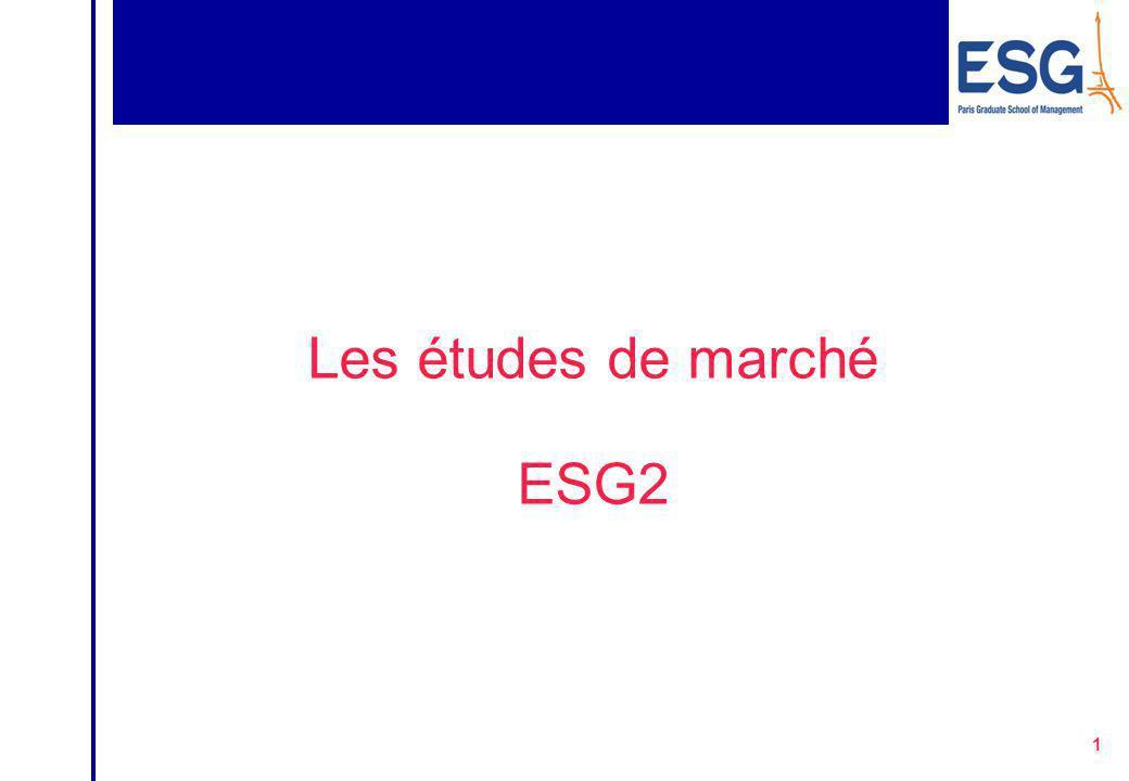1 Les études de marché ESG2