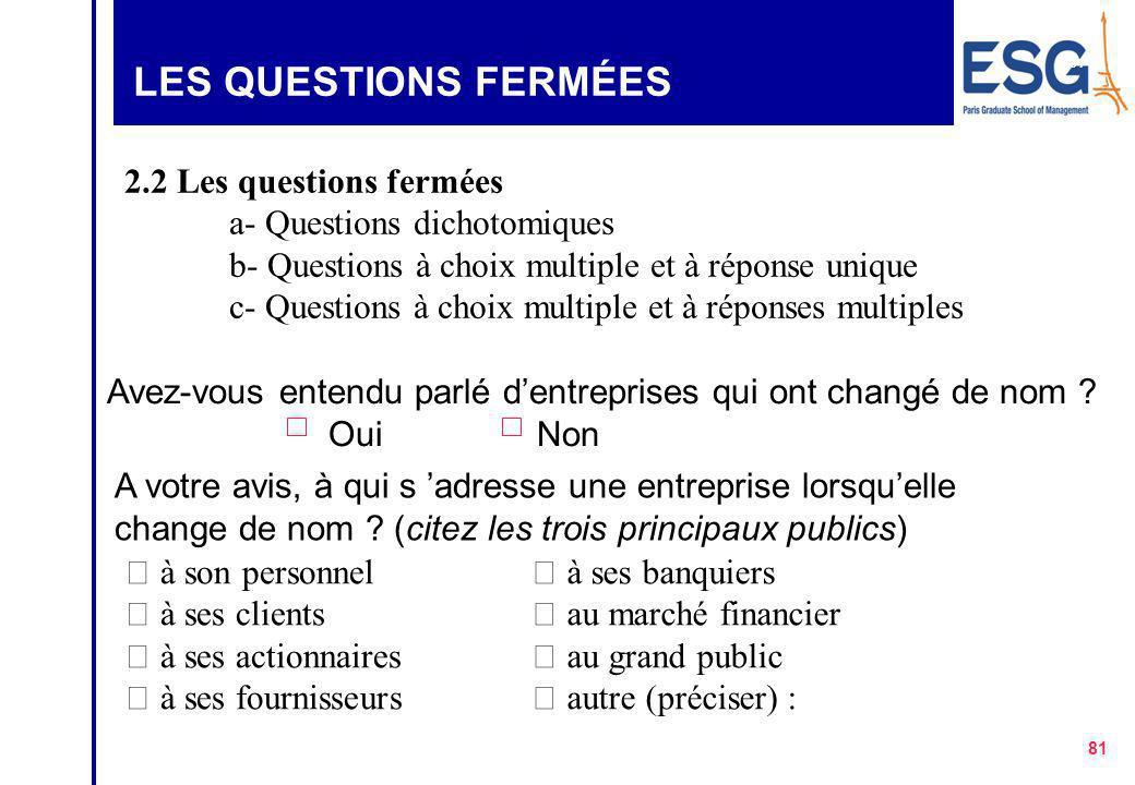 80 LES QUESTIONS OUVERTES