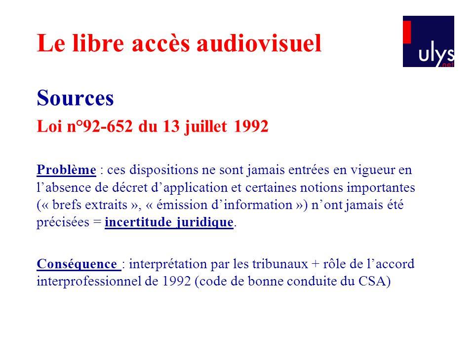 Sources Loi n°92-652 du 13 juillet 1992 Problème : ces dispositions ne sont jamais entrées en vigueur en l'absence de décret d'application et certaine