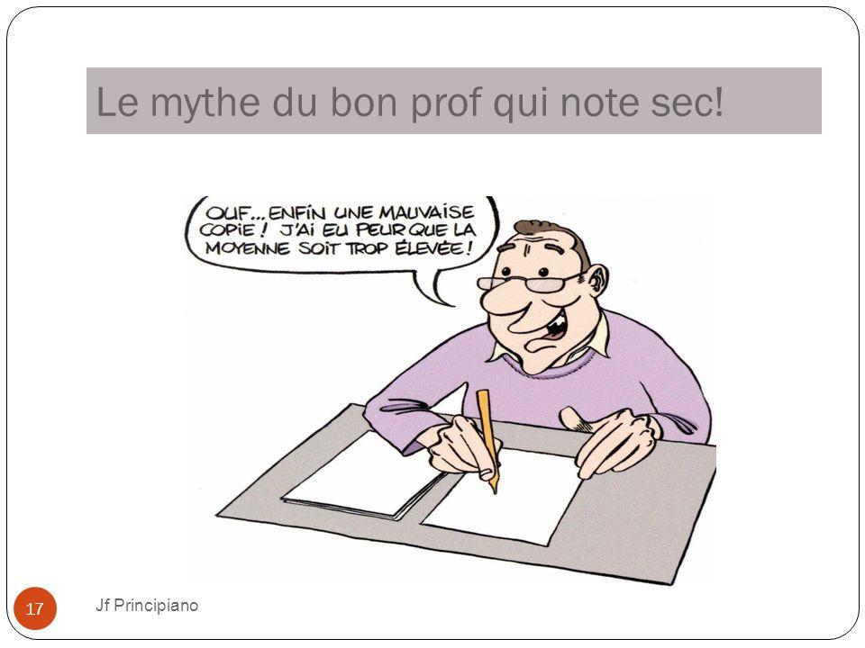 Le mythe du bon prof qui note sec! Jf Principiano 17