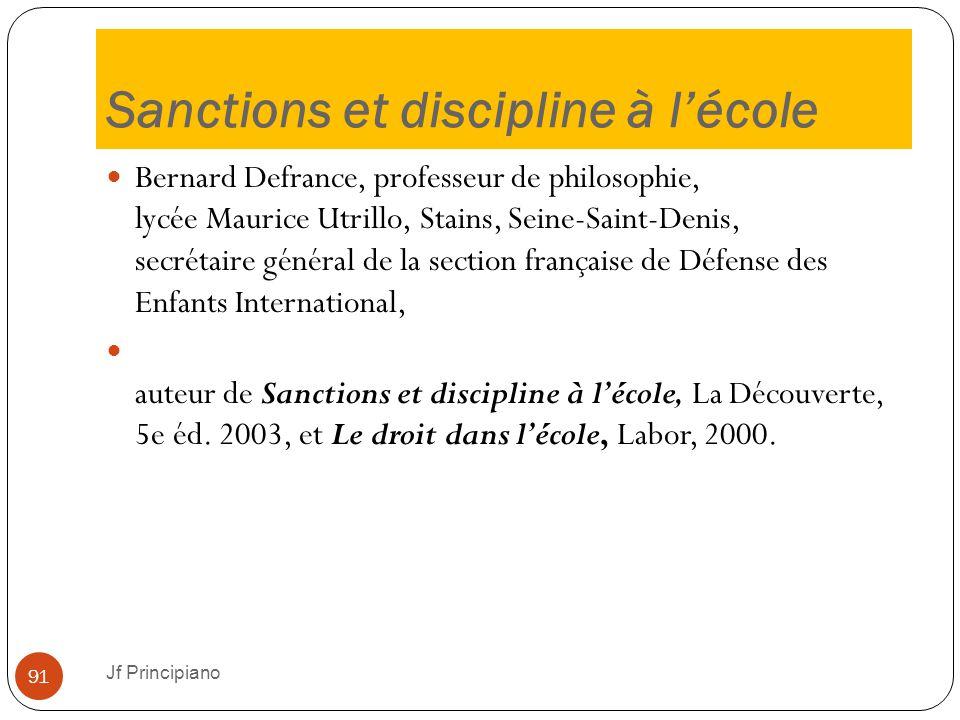 Sanctions et discipline à l'école Bernard Defrance, professeur de philosophie, lycée Maurice Utrillo, Stains, Seine-Saint-Denis, secrétaire général de
