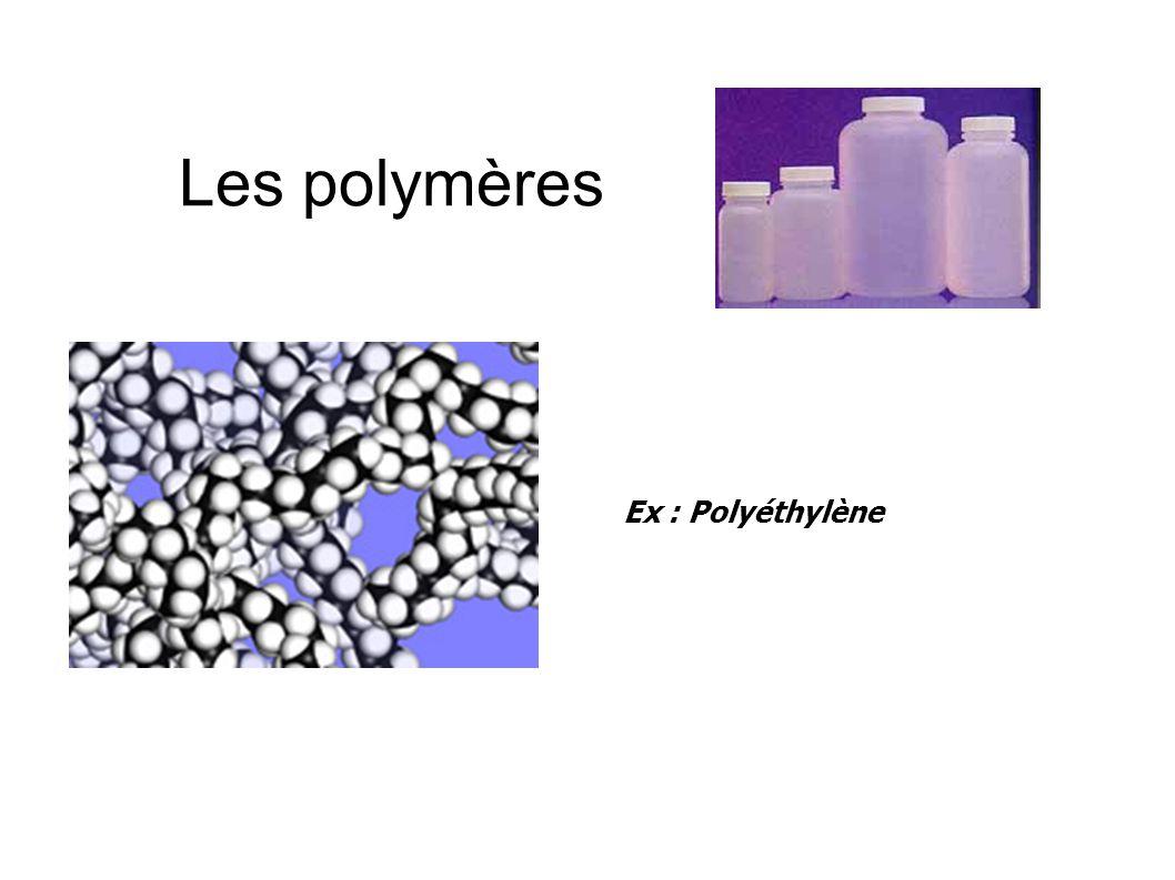 Les polymères Les polymères sont constitués de « macromolécules », c'est à dire de « grosses » molécules, dont la masse molaire peut dépasser 100 000