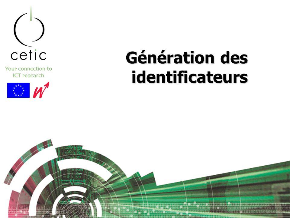 Génération des identificateurs