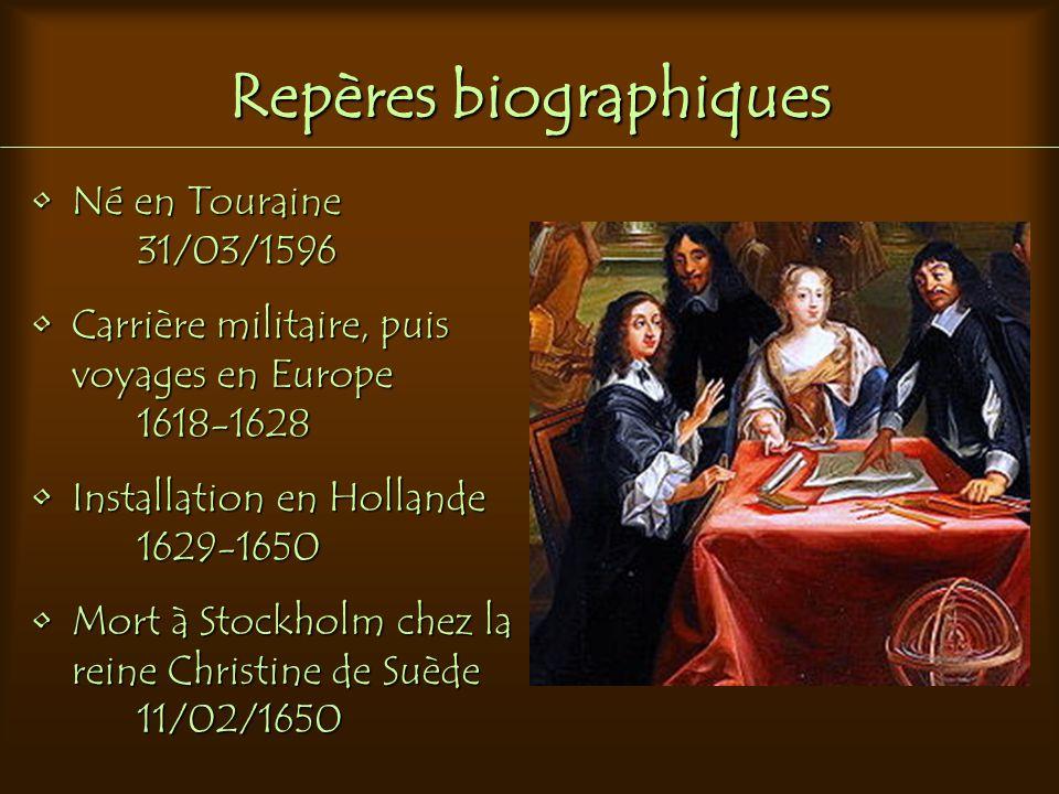 Repères biographiques Né en Touraine 31/03/1596Né en Touraine 31/03/1596 Carrière militaire, puis voyages en EuropeCarrière militaire, puis voyages en