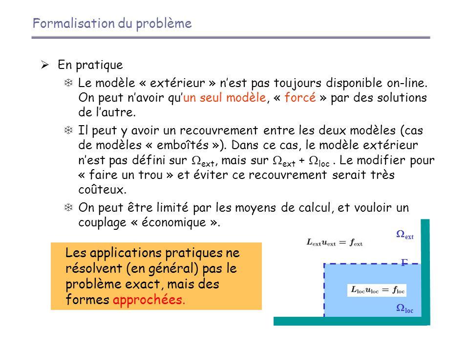  Exemple : équation d'advection-diffusion 2D (Martin, 2003)  Transformées de Fourier des erreurs : solutions exprimées en fonction des +/-  CFO par transformée de Fourier inverse   Conditions absorbantes exactes (ou idéales) Conditions absorbantes exactes