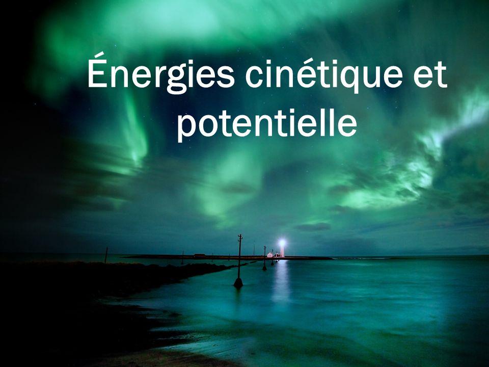 Énergie cinétique Elle est liée à la vitesse d'un corps Elle est d'autant plus grande que la masse d'un corps est grande