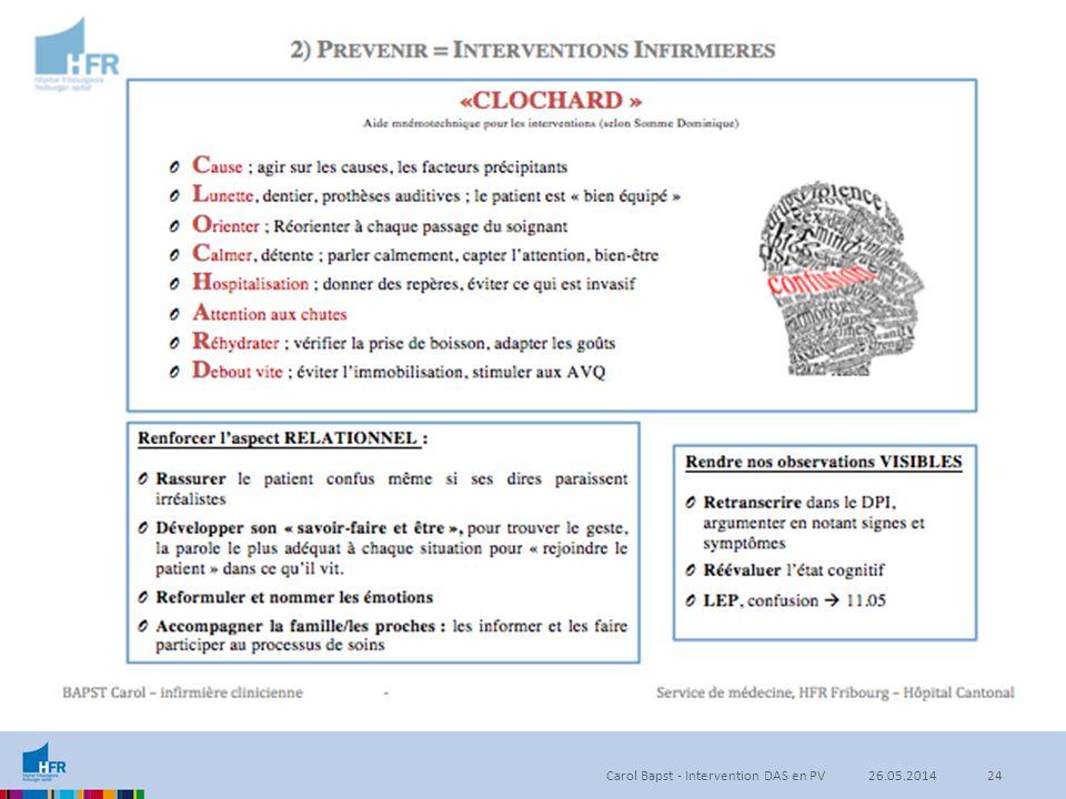 Carol Bapst - Intervention DAS en PV2426.05.2014