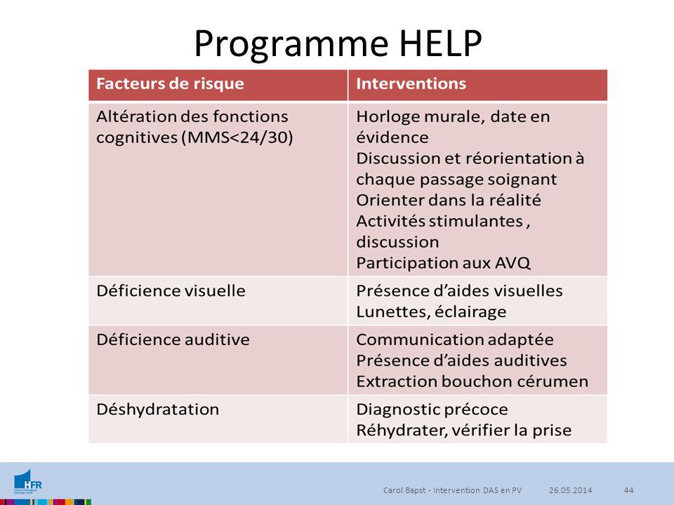 Programme HELP Carol Bapst - Intervention DAS en PV4426.05.2014