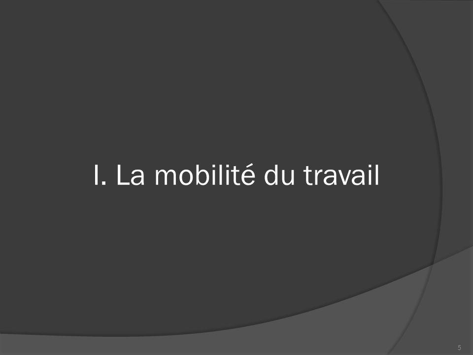 I. La mobilité du travail 5