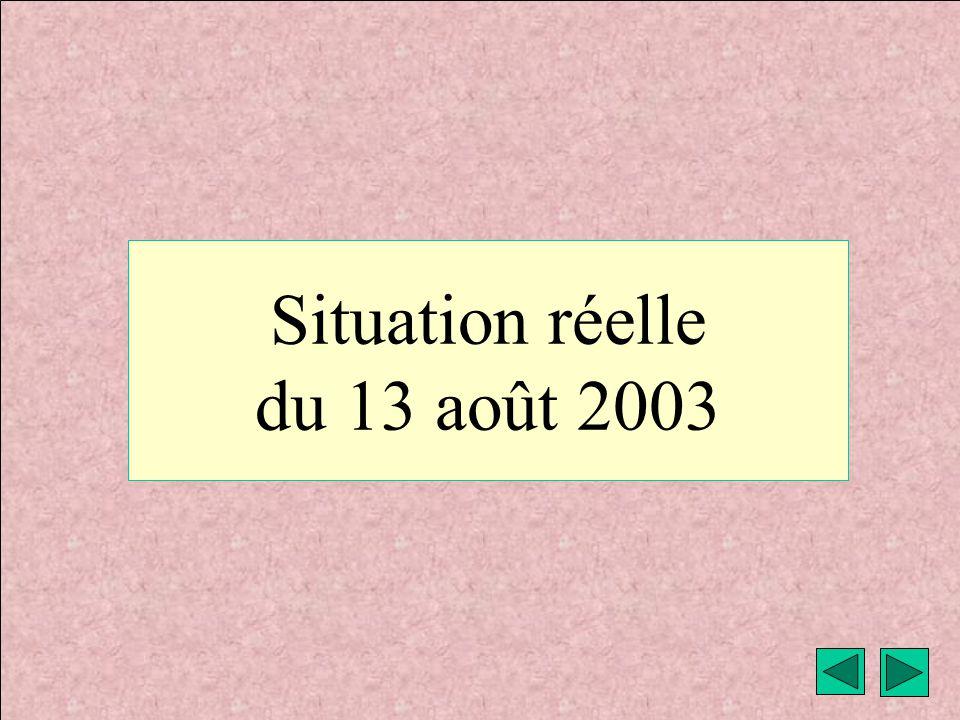 météo montagne Fièque JP13 Situation réelle du 13 août 2003
