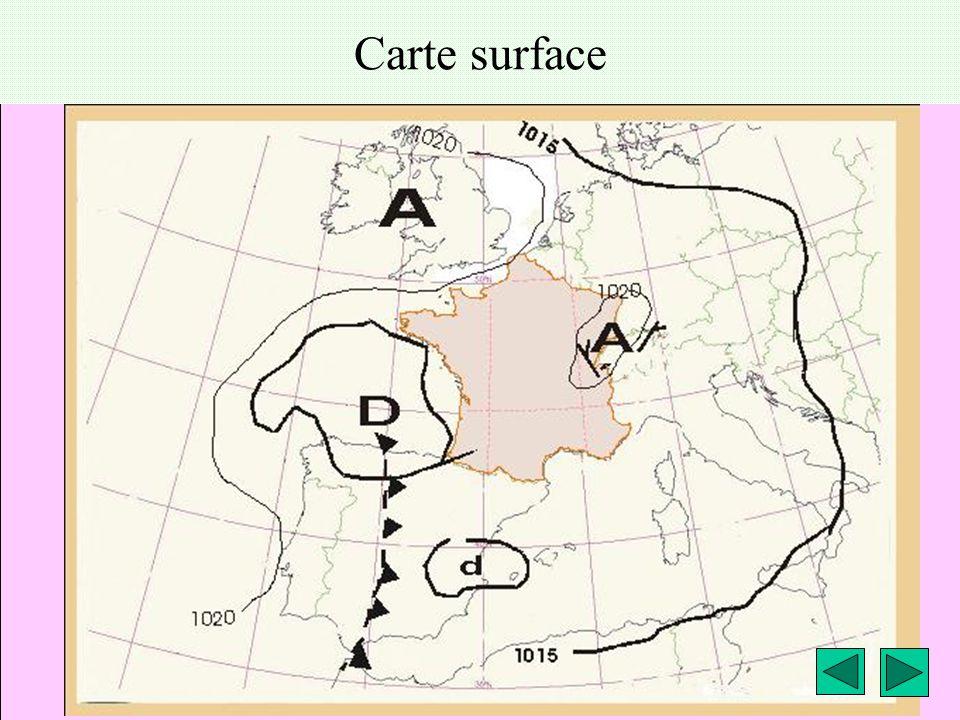 météo montagne Fièque JP21 Carte surface