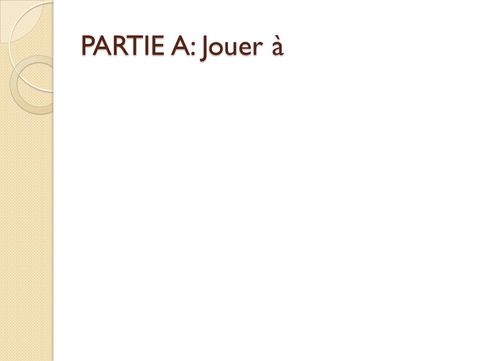 PARTIE A: Jouer à