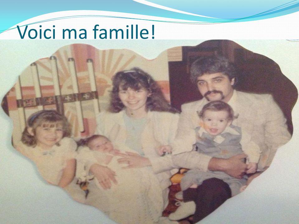 Je suis l'oncle de: Logan, Tristan, Breeanna, Joshua, Alyson et Britney Je suis le frère de Tanya et Jennifer